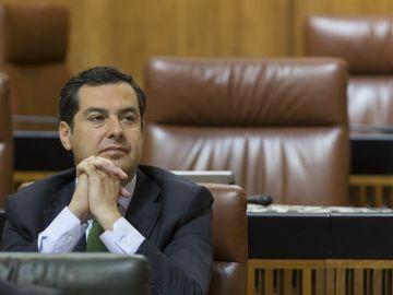 Juan Manuel Moreno Bonilla en el Parlamento andaluz
