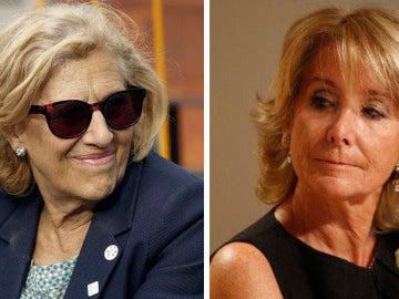 Manuela Carmena y Esperanza Aguirre