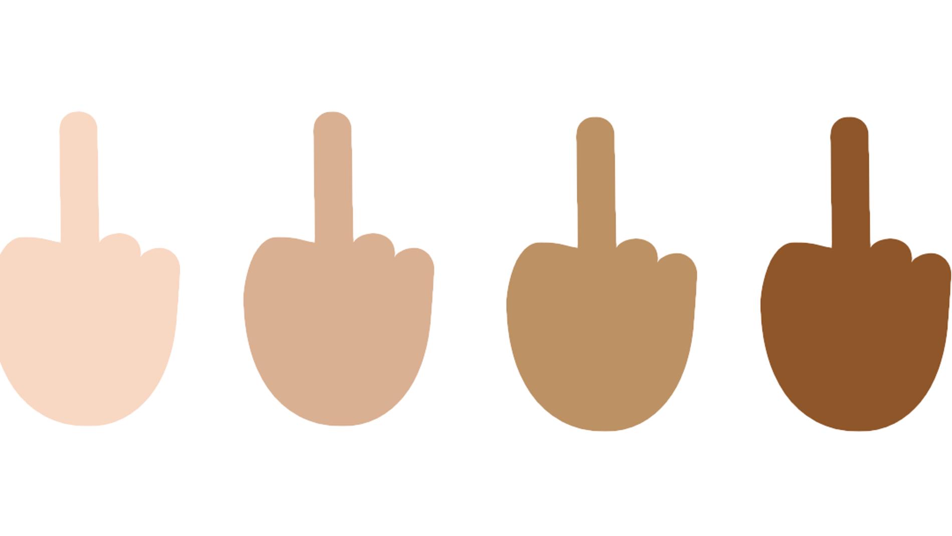 Emoji de Microsoft con la peineta