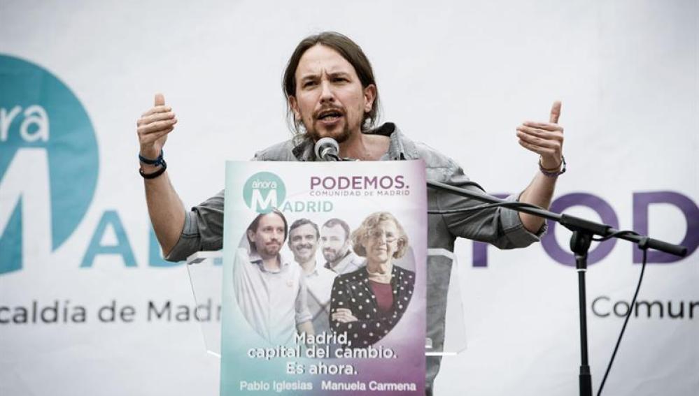 """Pablo Iglesias endurece su discurso electoral y carga contra """"corruptos y ladrones"""""""