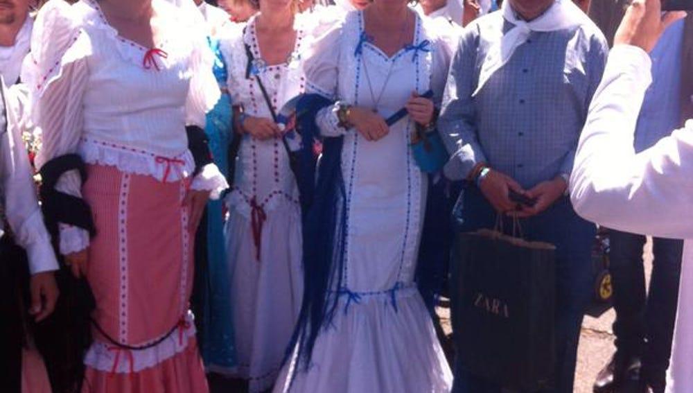 Esperanza Aguirre vestida de chulapa