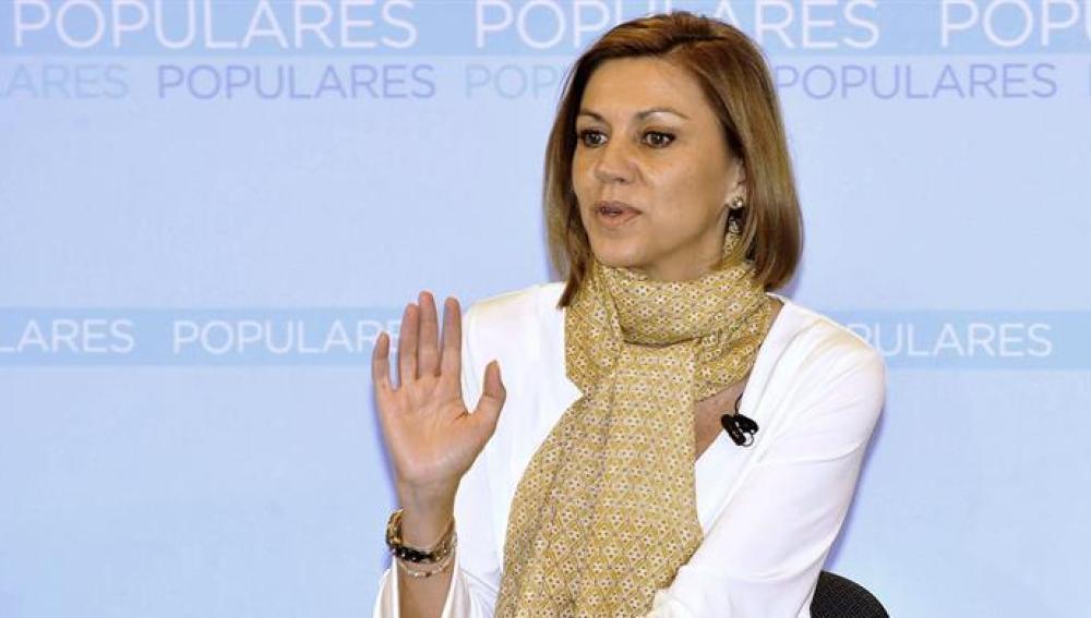 María Dolores de Cospedal en un acto electoral