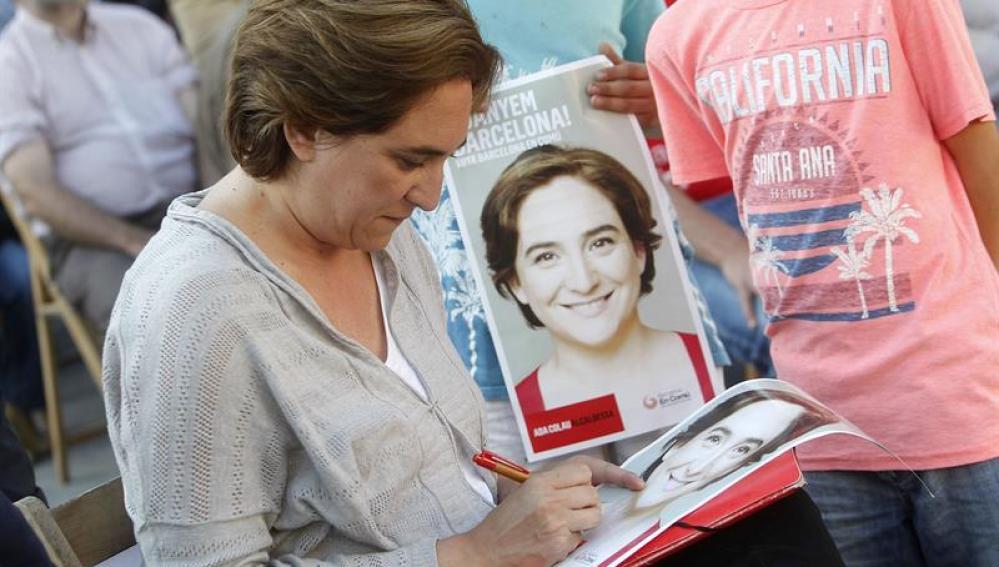 Ada Colau ultima la campaña electoral