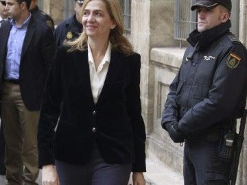 La infanta Cristina, a su llegada a los juzgados de Palma