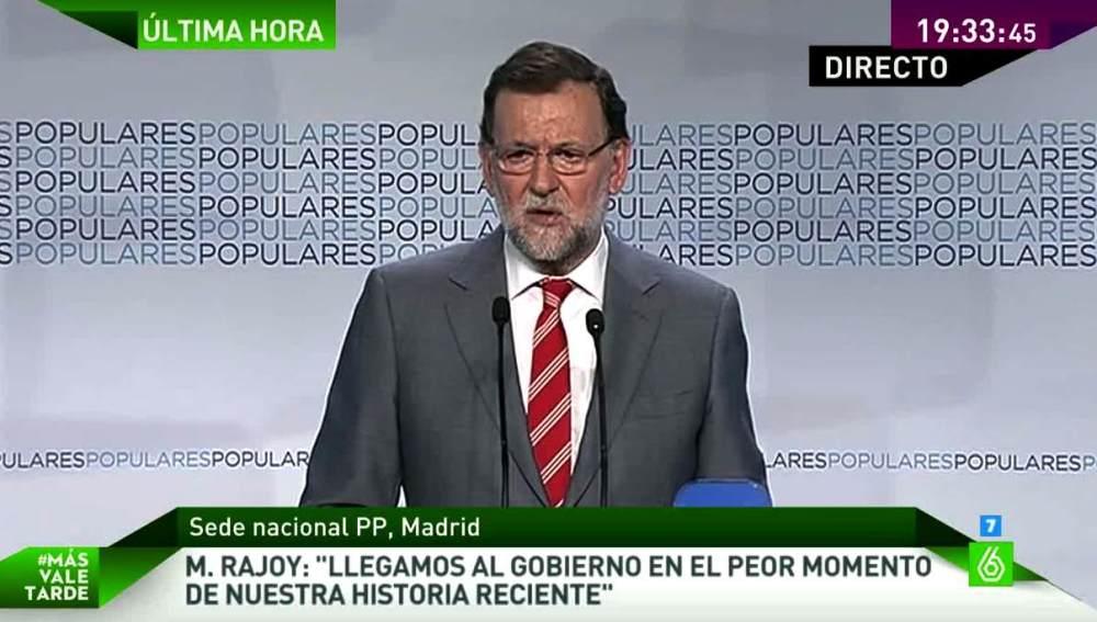 Rajoy habla ante los medios