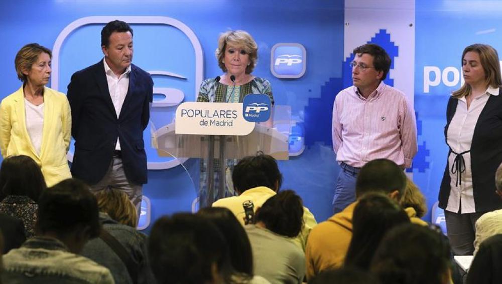Esperanza Aguirre comparece en Génova