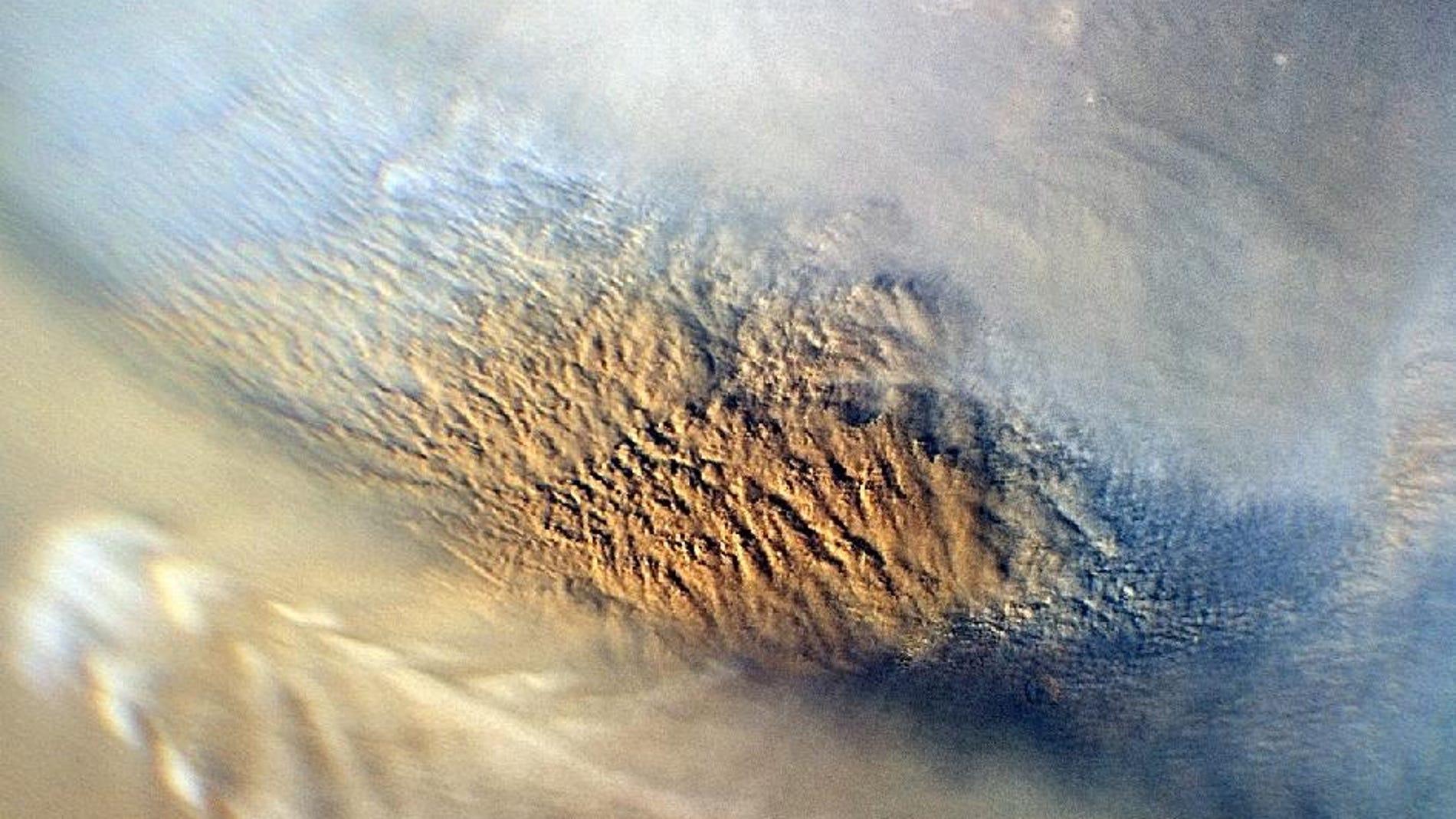 Tormenta de polvo en Marte