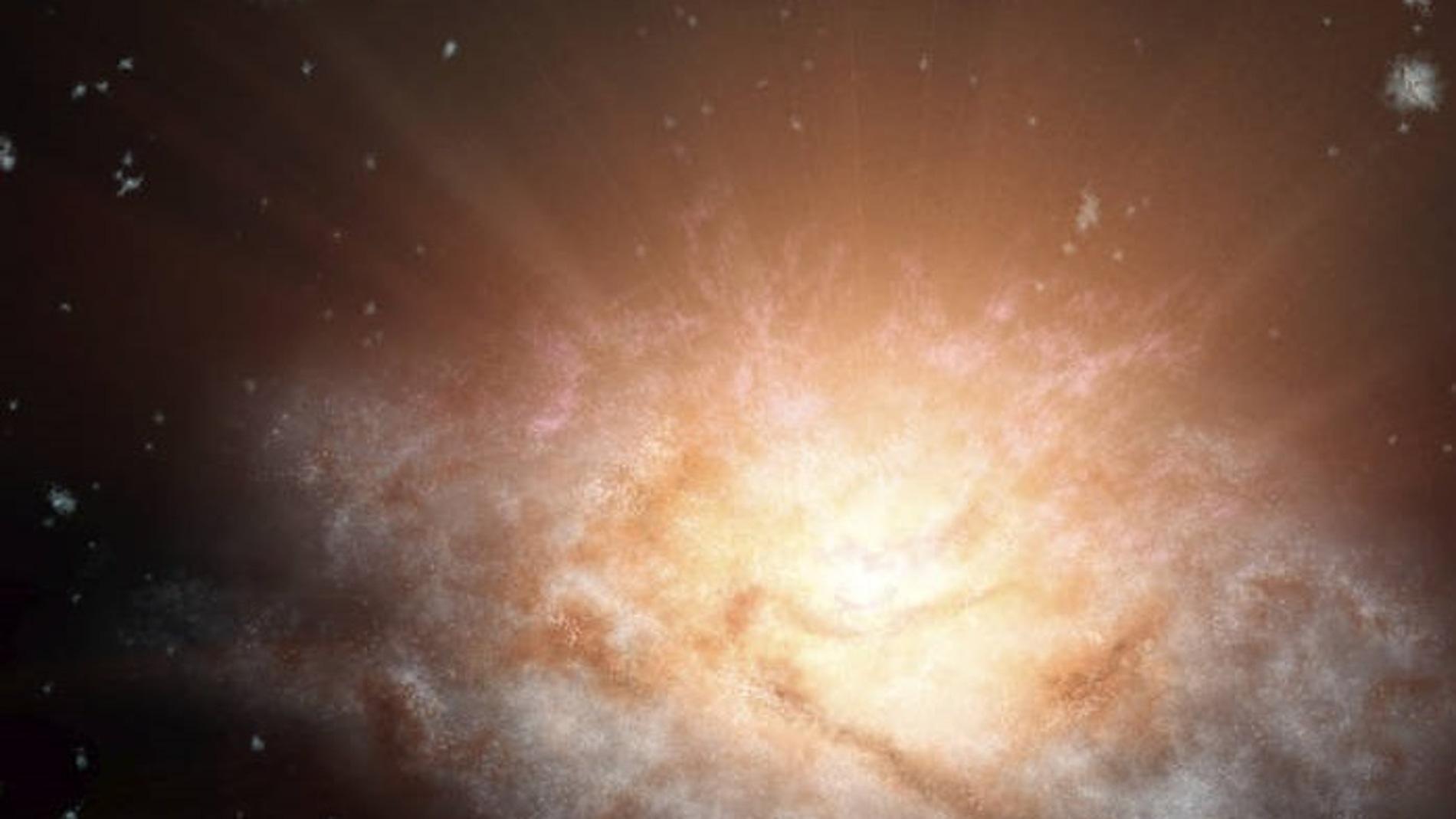 Representación artística de la galaxia WISE J224607.57-052635.0