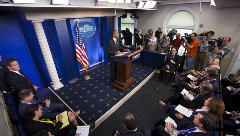 sala de prensa de la Casa Blanca