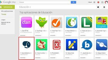 La guía entró en el top 10 de apps educa