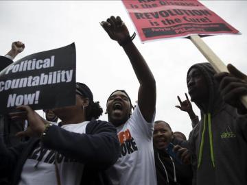 Protesta por una agresión policial el Texas