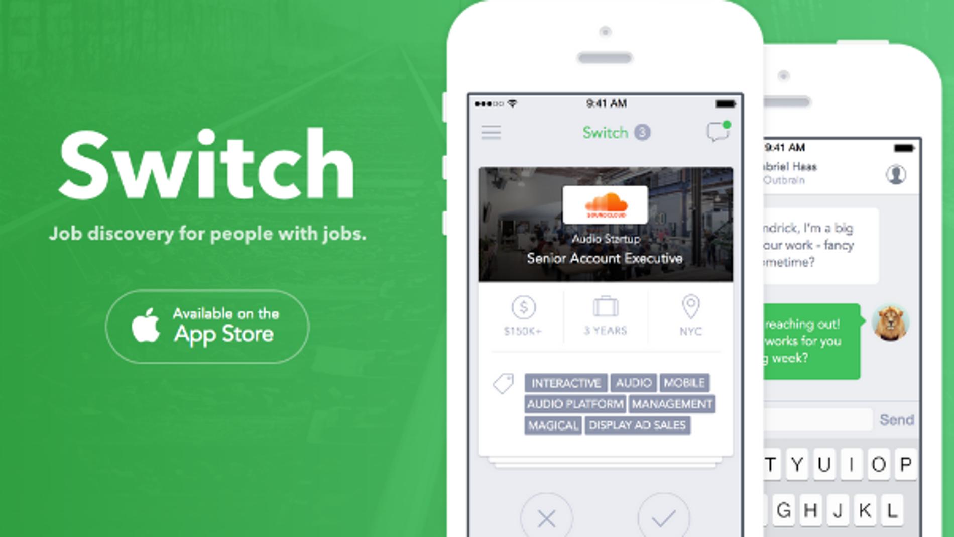 Switch, descubre trabajos como Tinder