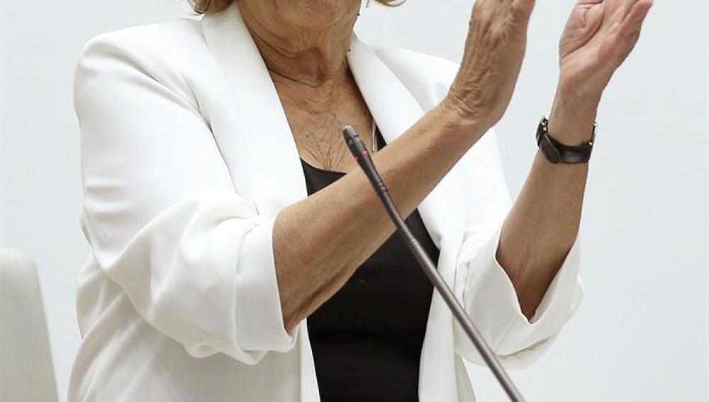 Manuela Carmena, durante su investidura