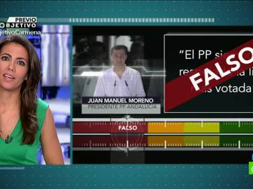 Prueba de verificación a Juanma Moreno