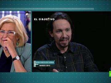 Manuela Carmena y Pablo Iglesias