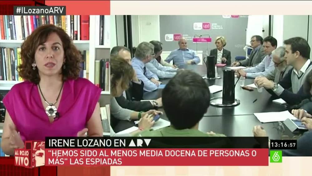 """Irene Lozano: """"En UPyD hemos sido espiadas al menos media docena de personas"""""""
