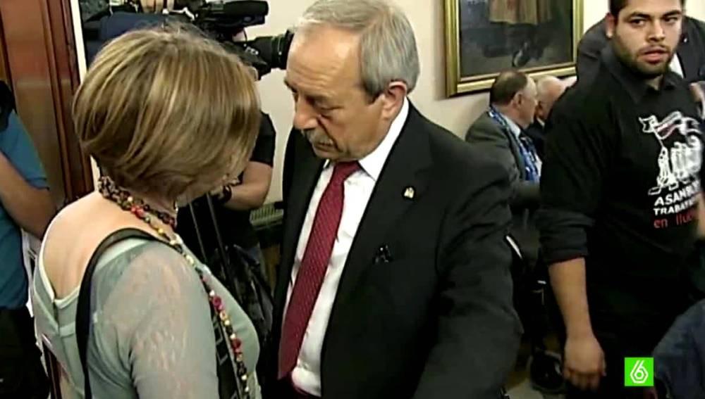 Wenceslao López, del PSOE y Ana Taboada, de Somos Oviedo