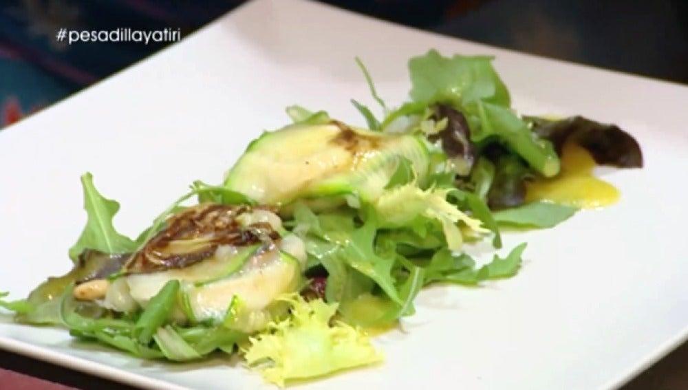Los raviolis de calabacín con queso de cabra y tomate del Yatiri