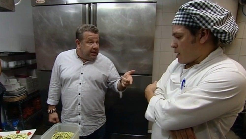 Chicote y Mario, en cocinero del Yatiri