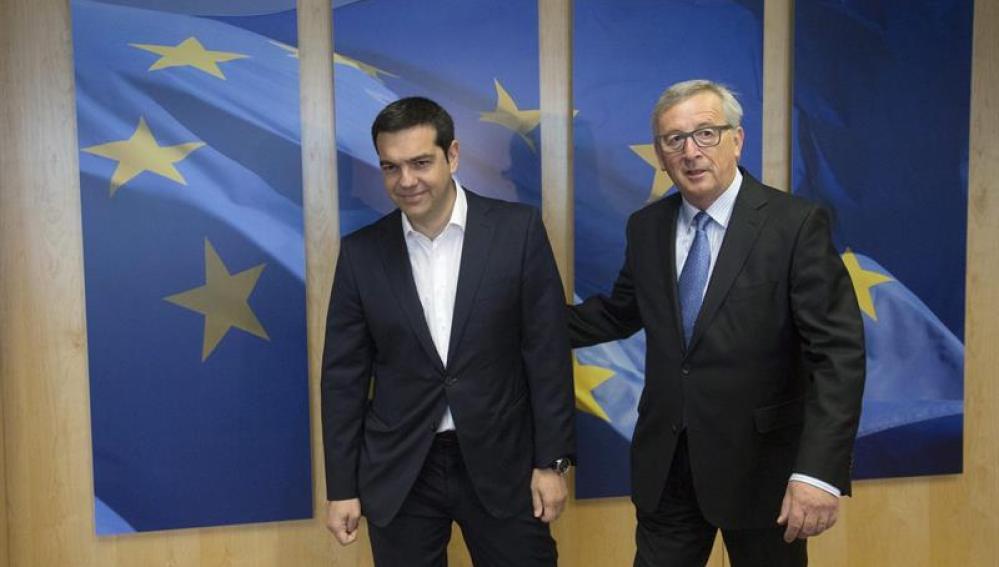 Jean-Claude Juncker recibe a Alexis Tsipras