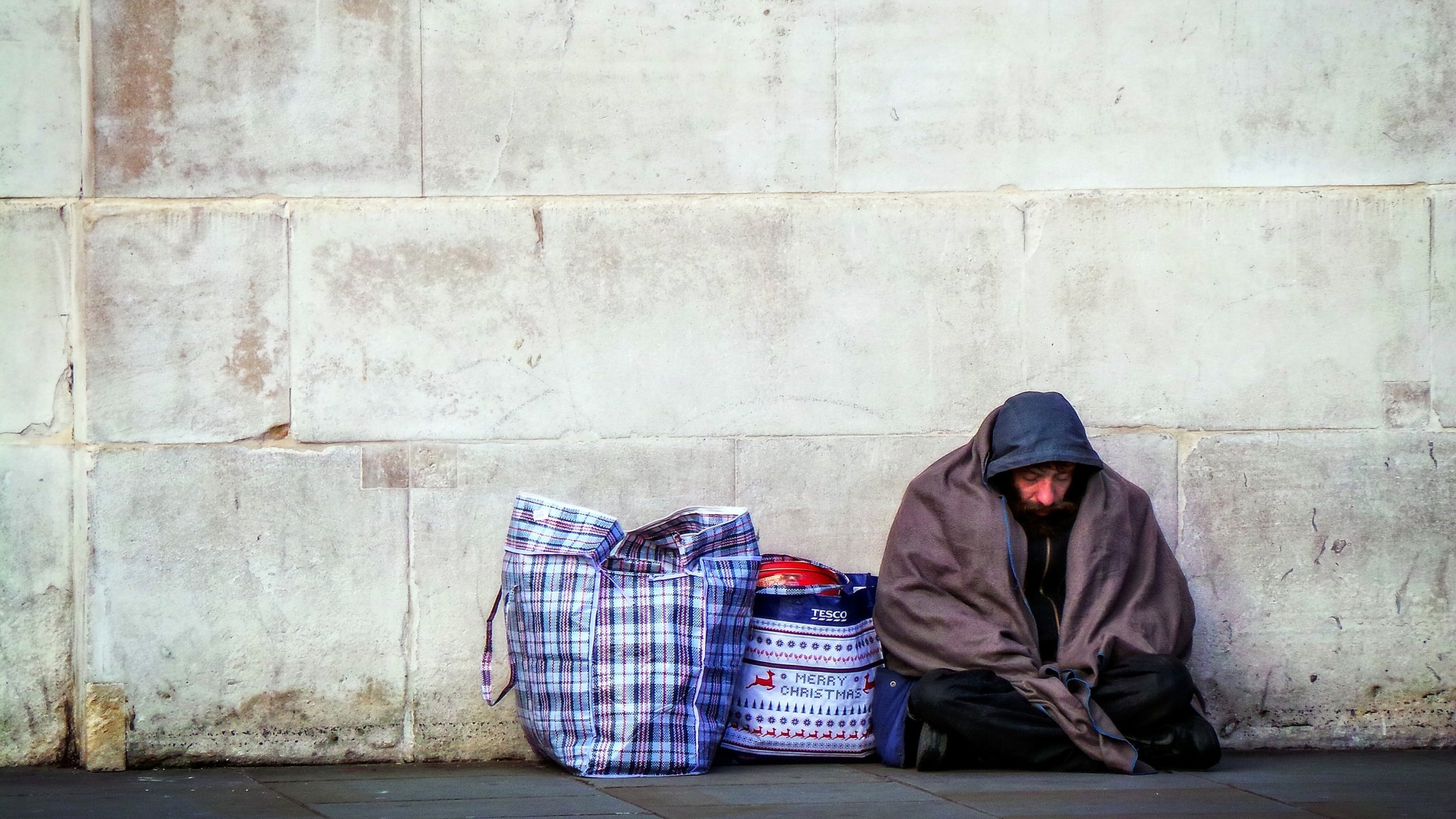 Imagen de un indigente