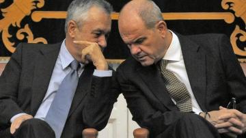 Los expresidentes de la Junta de Andalucía, Chaves y Griñán