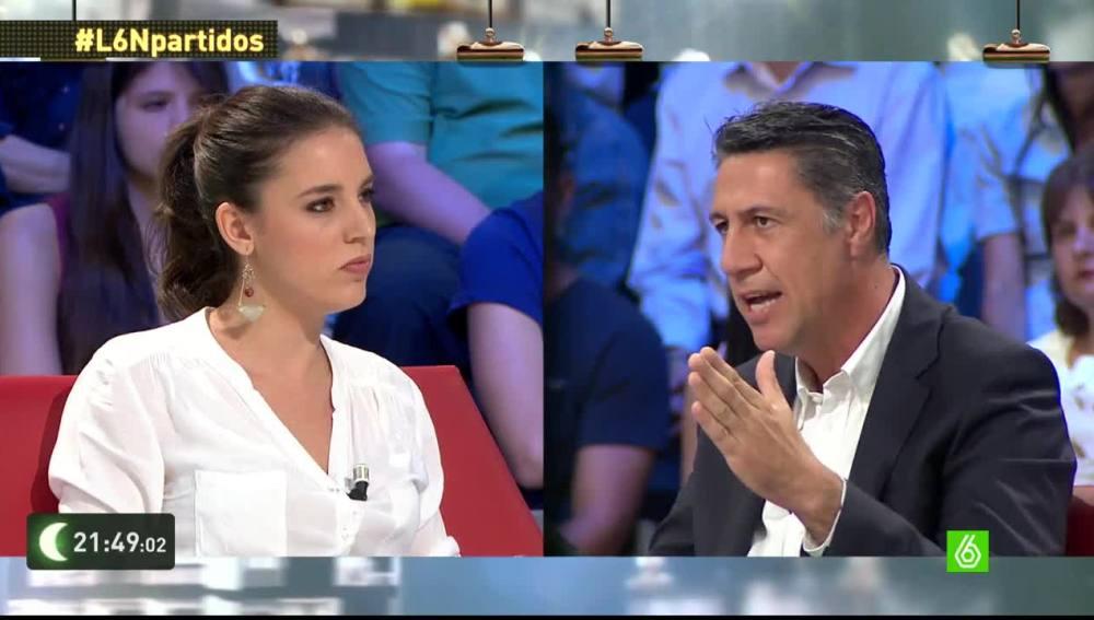 Irene Montero y Xavier García Albiol