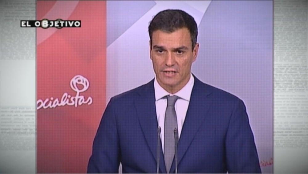 Pedro Sánchez en una prueba de verificación de 'El Objetivo'
