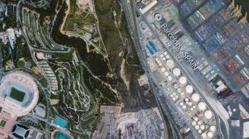Imagen de Montjuic desde la ISS