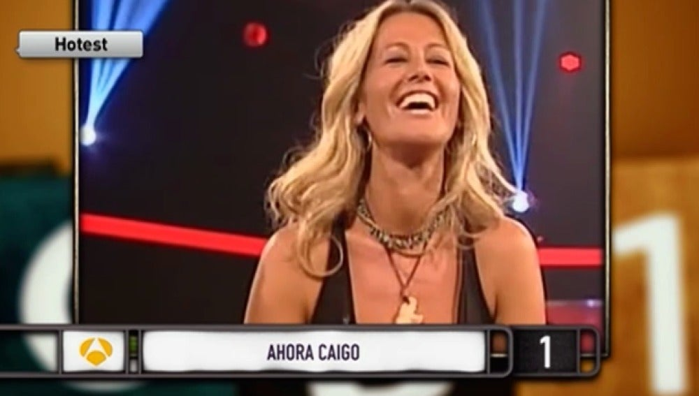 Una concursante muy 'hot' de 'Ahora Caigo'
