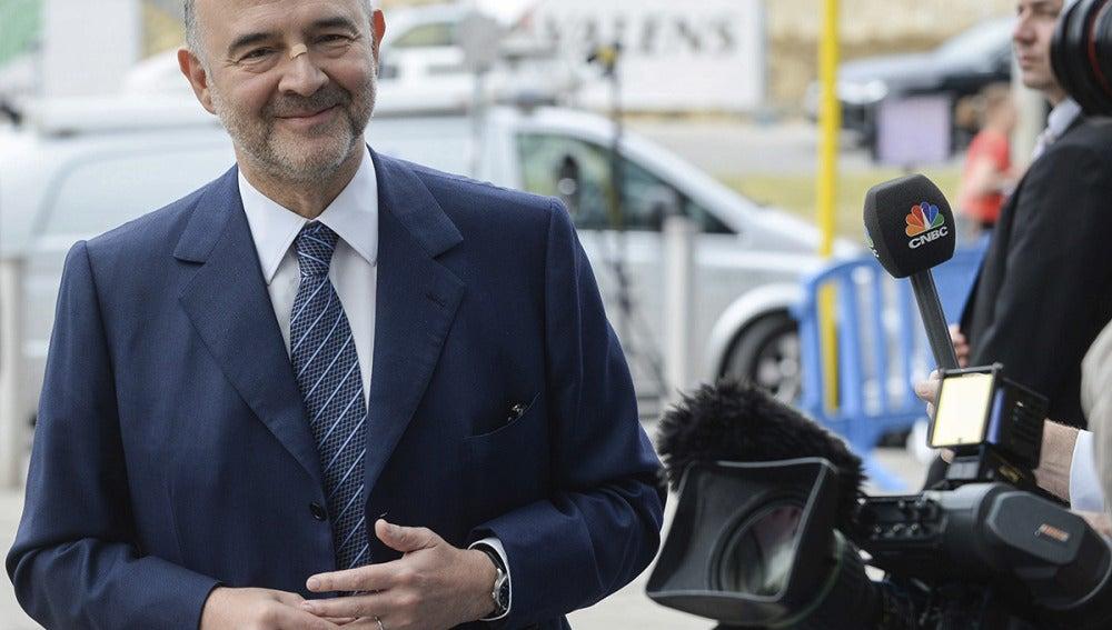 El comisario europeo de Economía y Asuntos Financieros, el galo Pierre Moscovici