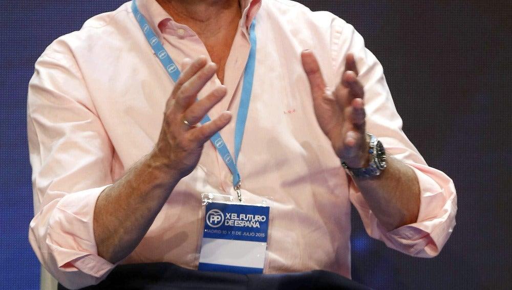Luis de Guindos, durante la Convención Política del PP