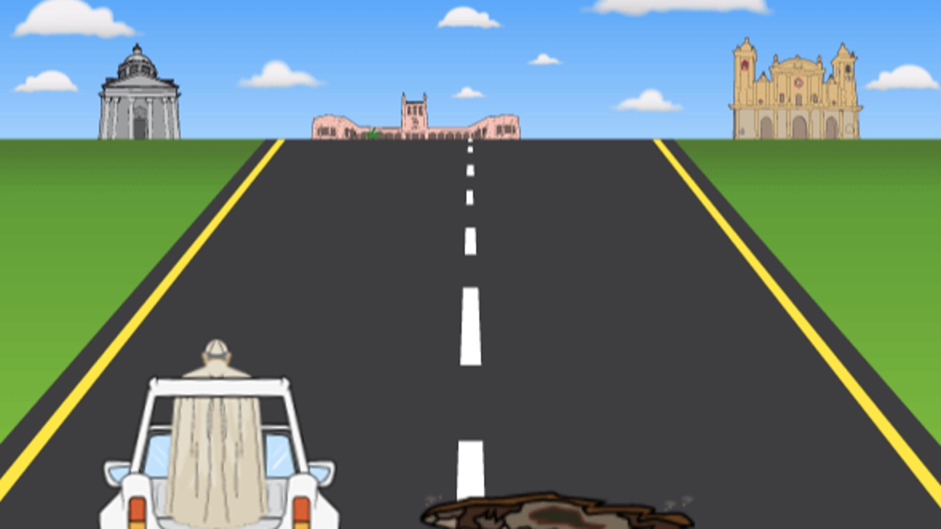 Captura del juego 'Papa road'