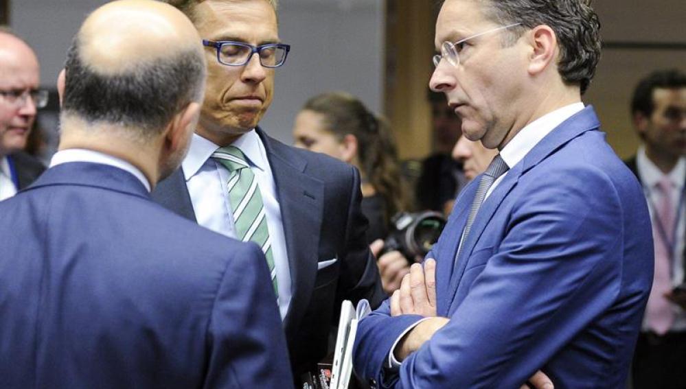 Jeroen Dijsselbloem durante una reunión con el Eurogrupo
