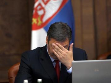 El primer ministro serbio, Alecxandar Vuvic