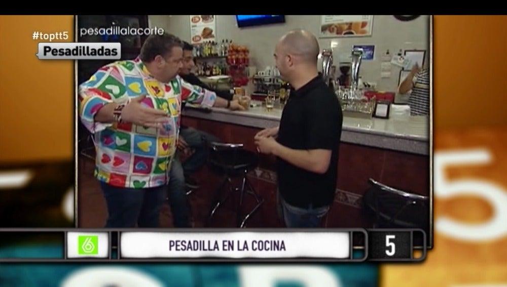 Alberto Chicote es desquicia con los mejores momentos de 'Pesadilla en la Cocina'