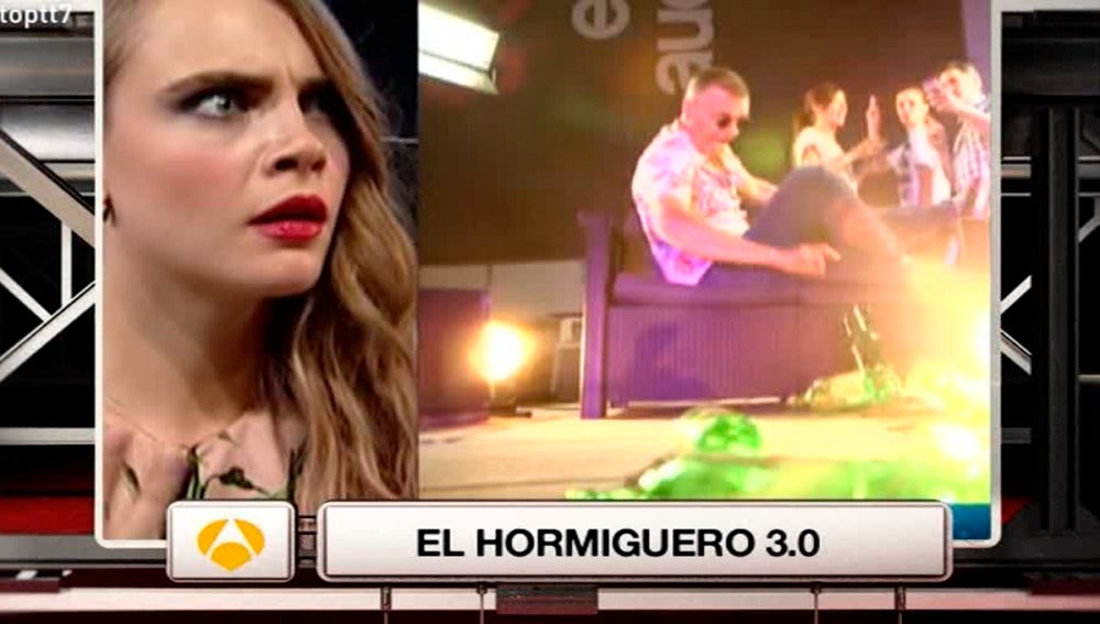 Un efecto mariposa de 'El Hormiguero' con Cara Delevingne es 'El Momentazo'