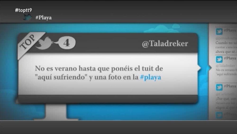 """@Taladreker: """"No es verano hasta que ponéis el tuit de 'aquí sufriendo' y una foto en la playa"""""""