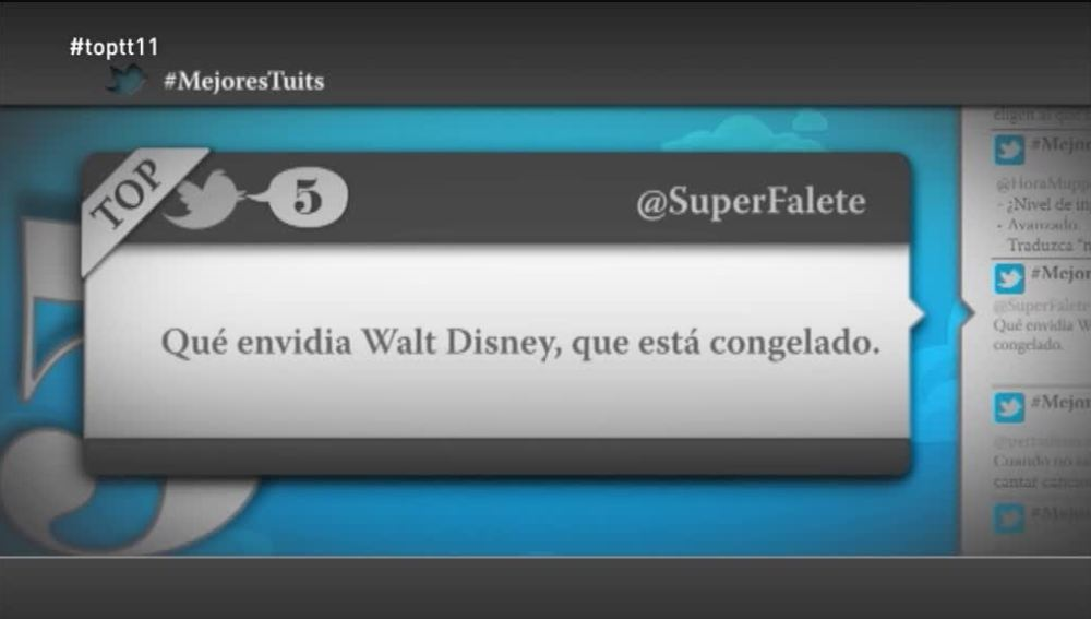 "@SuperFalete: ""Qué envidia Walt Disney, que está congelado"""
