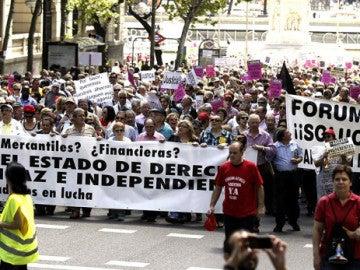 Manifestación contra Afinsa