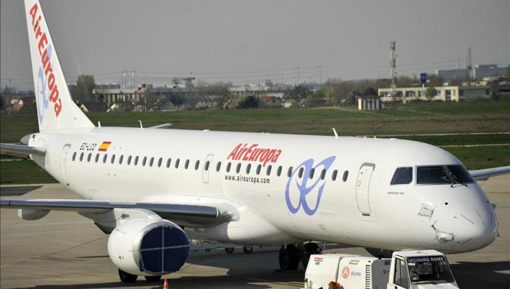 Imagen de archivo de un avión de Aireuropa