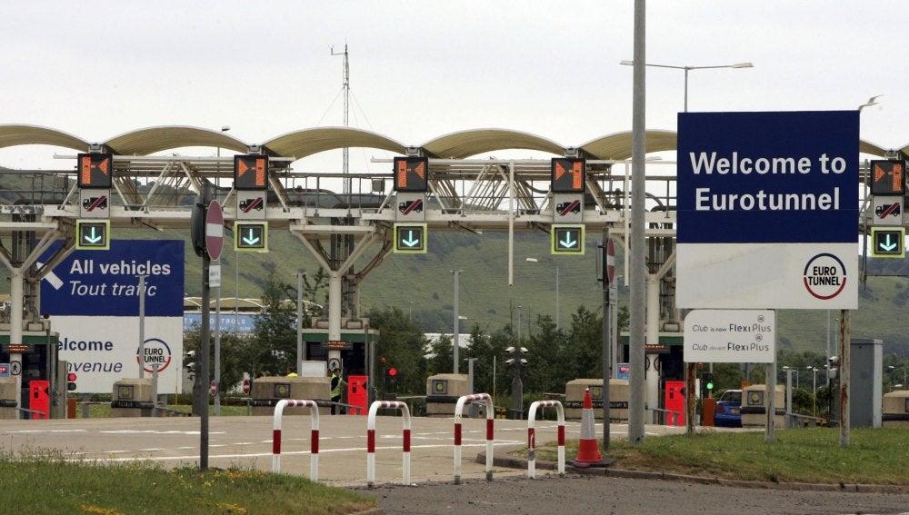 Entrada al Eurotúnel