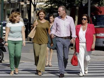 Alberto Fabra y Rita Barberá junto a María Dolores de Cospedal