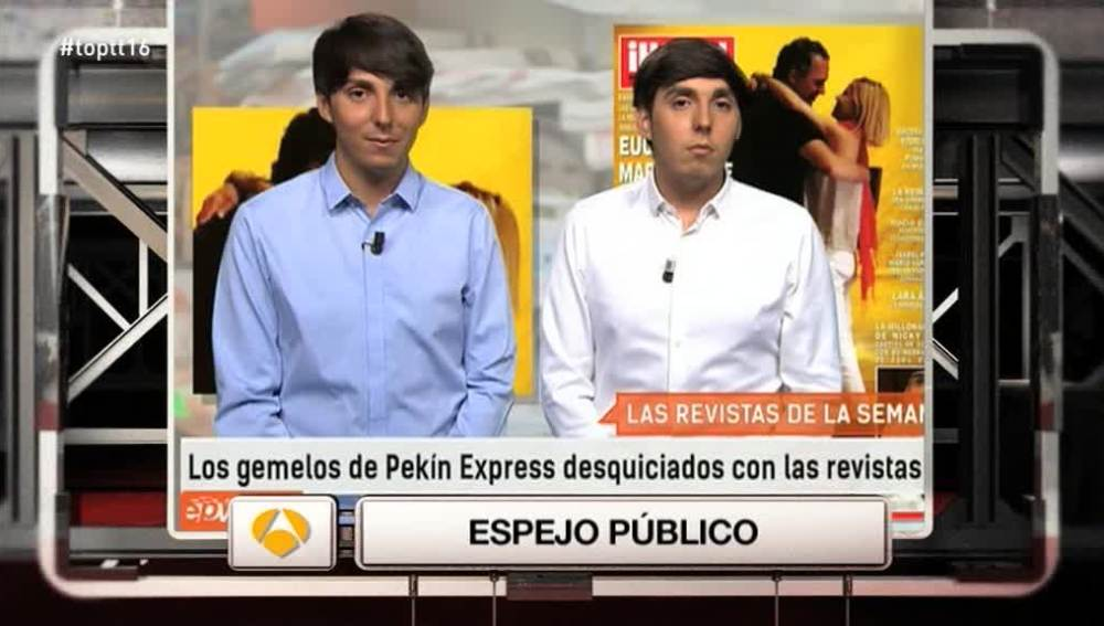Los gemelos de Pekín Express protagonizan 'El Momentazo' con la pareja del verano