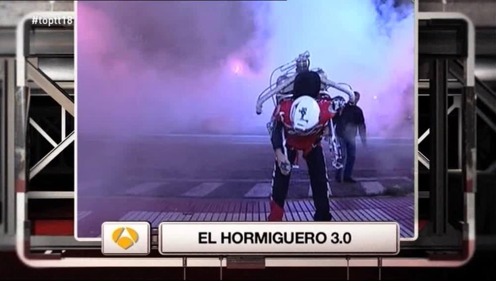 Un hombre con 'jetpack' en 'El Hormiguero' es 'El Momentazo'