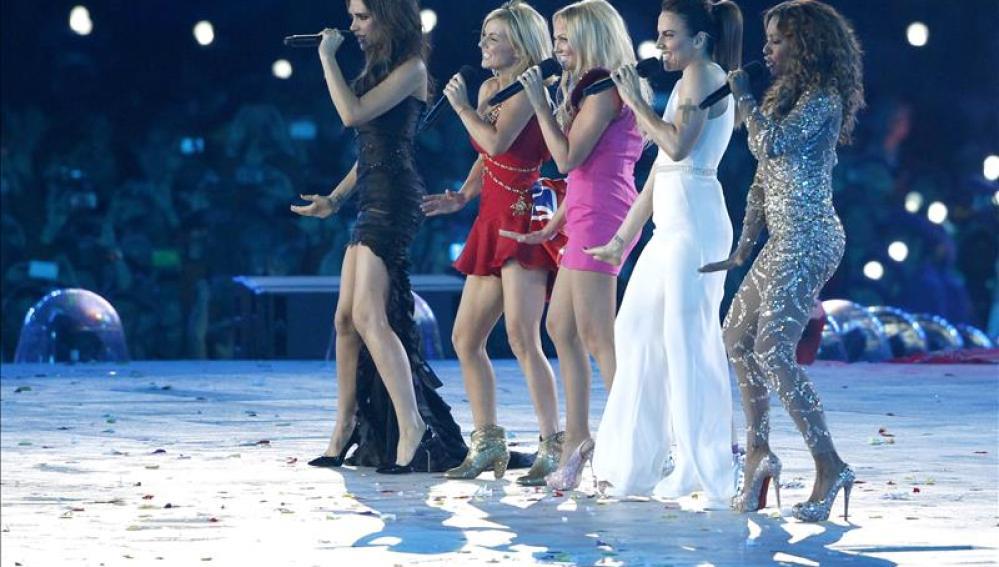 Un momento de la actuación del grupo Spice Girls, durante la ceremonia de clausura de los Juegos Olímpicos Londres 2012