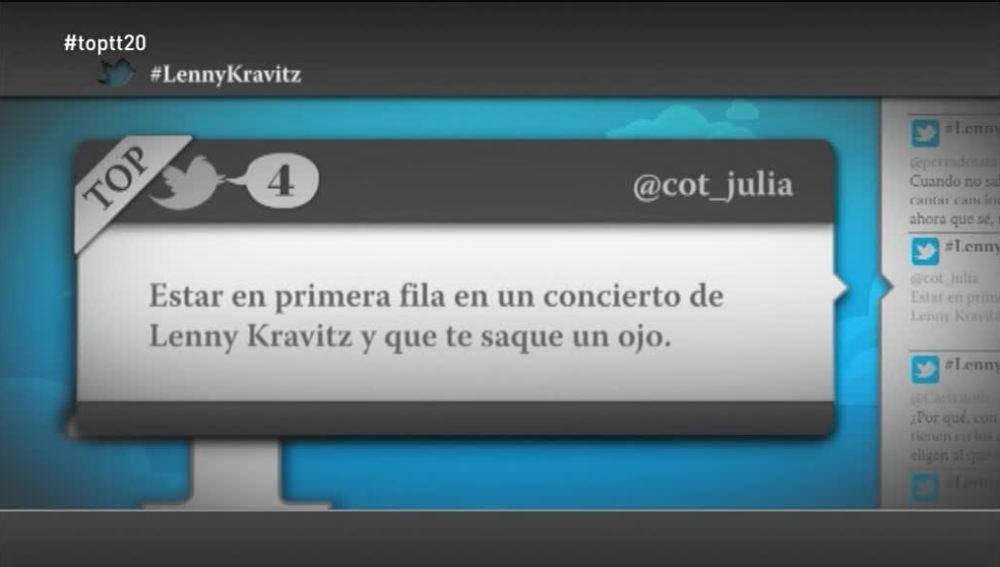 """@cot_julia: """"Estar en primera fila en un concierto de Lenny Kravitz y que te saque un ojo"""""""