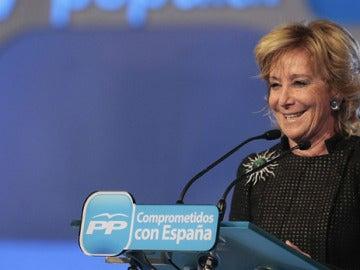 Esperanza Aguirre durante un acto electoral (Archivo)