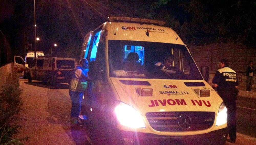 Emergencias Madrid en un suceso en la capita