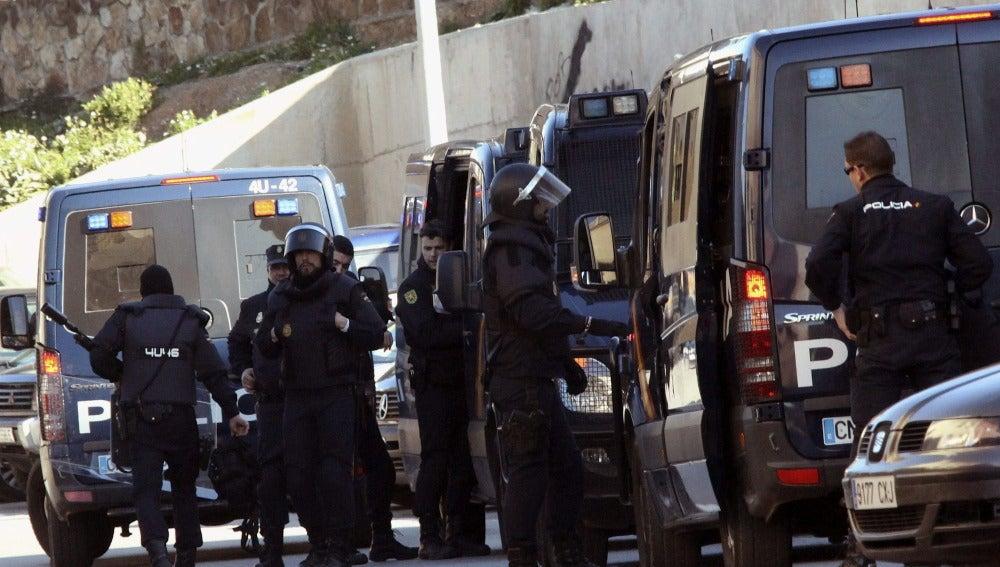 Dispositivo de las fuerzas de seguridad en una operación contra el terrorismo yihadista